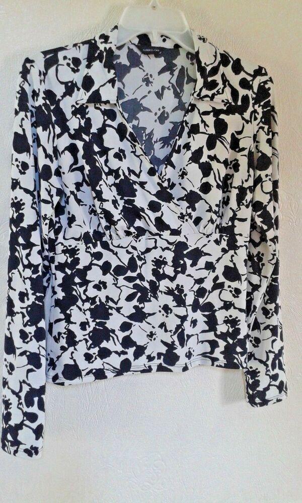 Fred Ladies Ivory Cream Black Floral