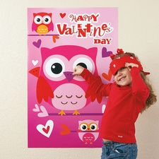 Valentines Day Party Game - Pin the Beak on the Owl