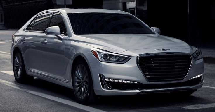 2018 Genesis G90 Gains New LED Headlights And A Rear Seat Entertainment System #Genesis #Genesis_G90