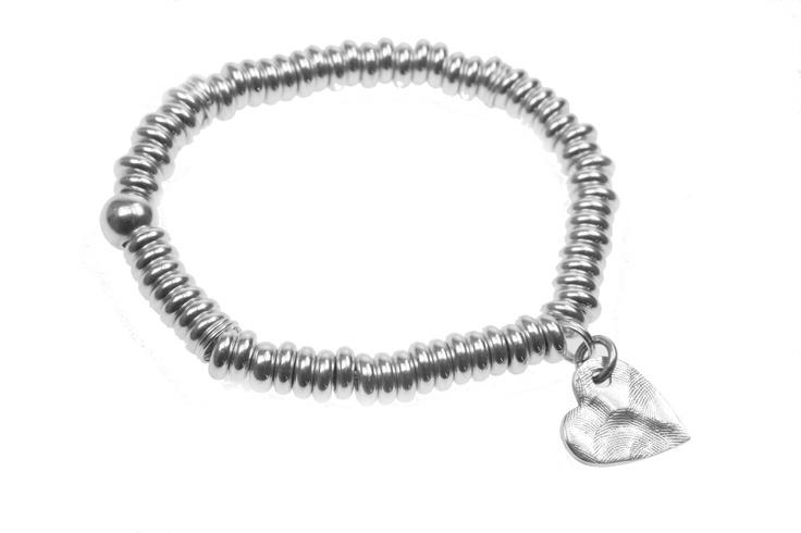 Sweetie Heart charm bracelet from our Tender Touch range by Smallprint. www.smallprint.co.za
