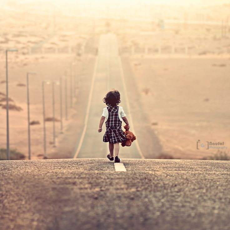 Journey with brownie  by MQ Naufal: The Journey, Little Girls, The Roads, Walks, Paths, Quotes, Teddy Bears, Girls Power, Running Away