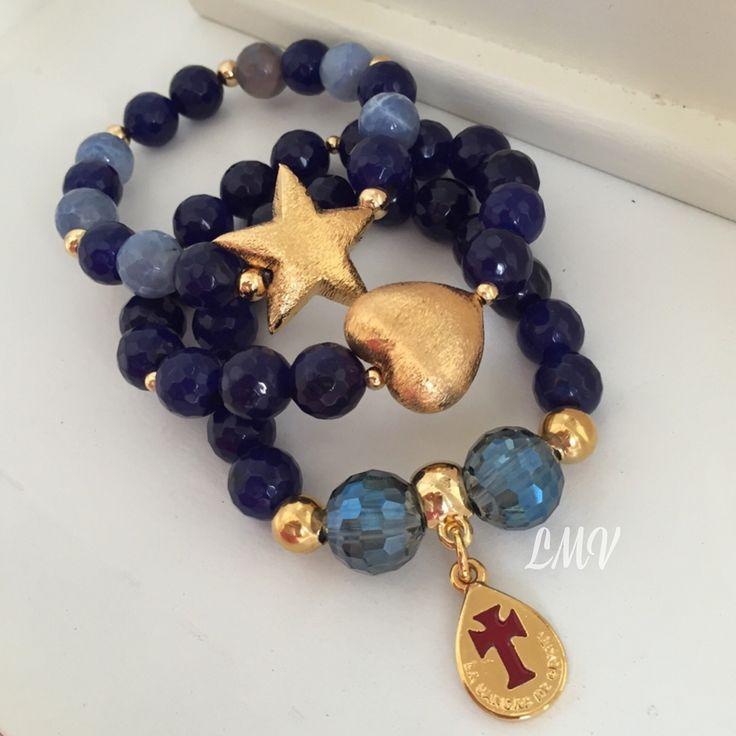 Set de pulseras de piedras jade by Luz Marina Valero