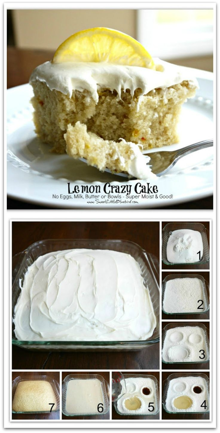 Lemon Crazy/Wacky Cake (also know as Depression Cake) No Eggs, Milk, Butter or Bowls! Super Moist & Good! Fun activity to do with kids! Great go-to recipe(s) for egg/dairy allergies. Chocolate, Vanilla & Spiced versions too!