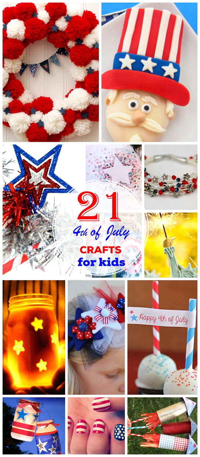 Click Pic for 21 DIY 4th of July Crafts for Kids to Make | Easy 4th of July Craft Ideas for Preschoolers