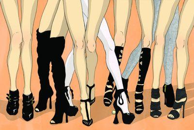 Z!NK Magazine: What is it about women in heels? Art Print