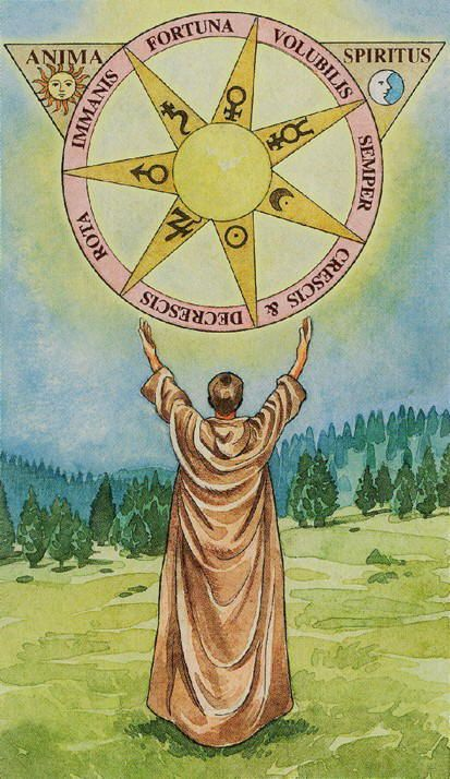 X. Wheel of Fortune - Sorcerers Tarot by Antonella Castelli