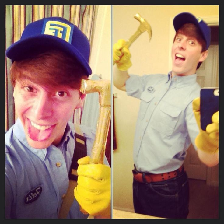 Thomas Sanders was Fix It Felix Jr for Halloween.>> my love for this man knows no bounds
