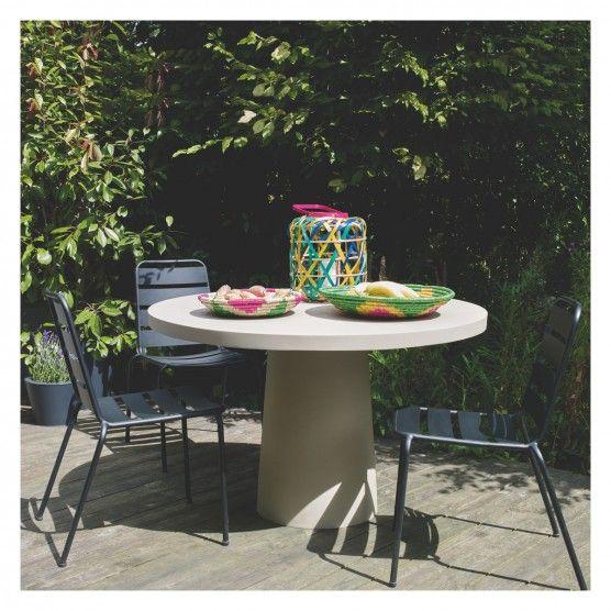 DARWIN Black stackable metal garden chair   Buy now at Habitat UK