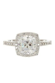This is perfect with a wedding band that matches the band on the engagement ring