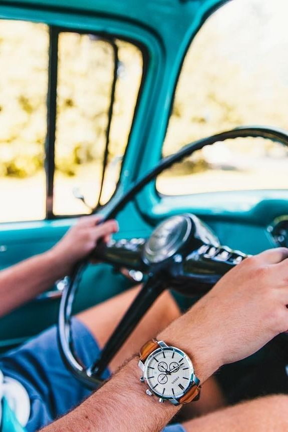 First car, first Fossil watch. We love the vintage look and feel! via @ acarltonmiller