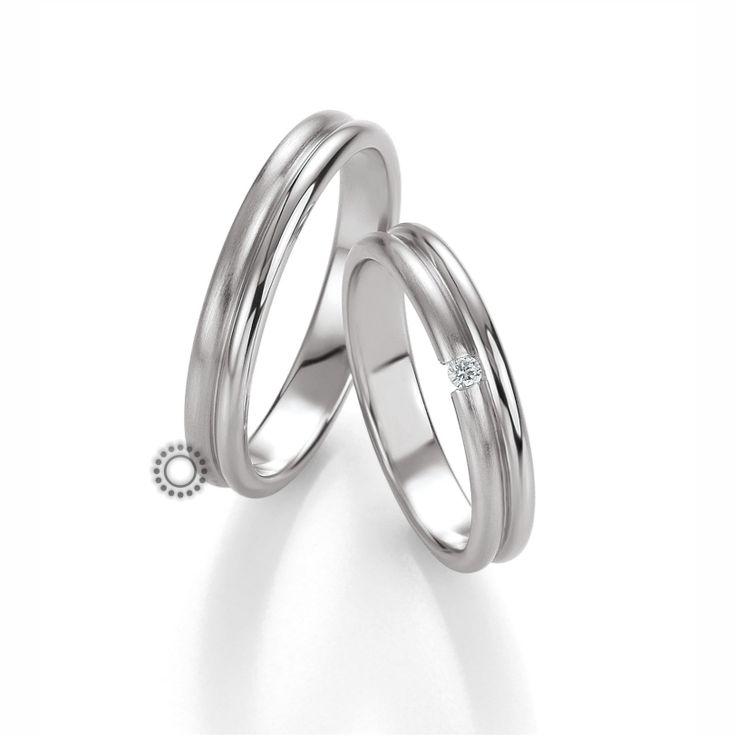 Βέρες γάμου BENZ 027 & 028 - Ιδιαίτερες λευκόχρυσες βέρες Benz που θυμίζουν διπλή βέρα | Βέρες ΤΣΑΛΔΑΡΗΣ στο Χαλάνδρι #βέρες #βερες #γάμου