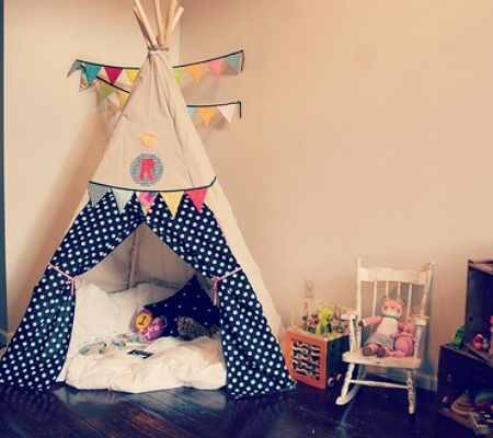 A DIY teepee for you to try.
