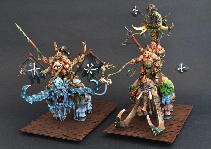 Warhammer FB | Ogre Kingdom | Stonehorn | Thundertusk #warhammer #ageofsigmar #aos #sigmar #wh #whfb #gw #gamesworkshop #wellofeternity #miniatures #wargaming #hobby #fantasy