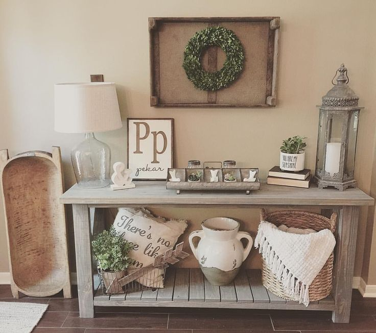 Farmhouse Foyer Table Decor : Best ideas about rustic console tables on pinterest