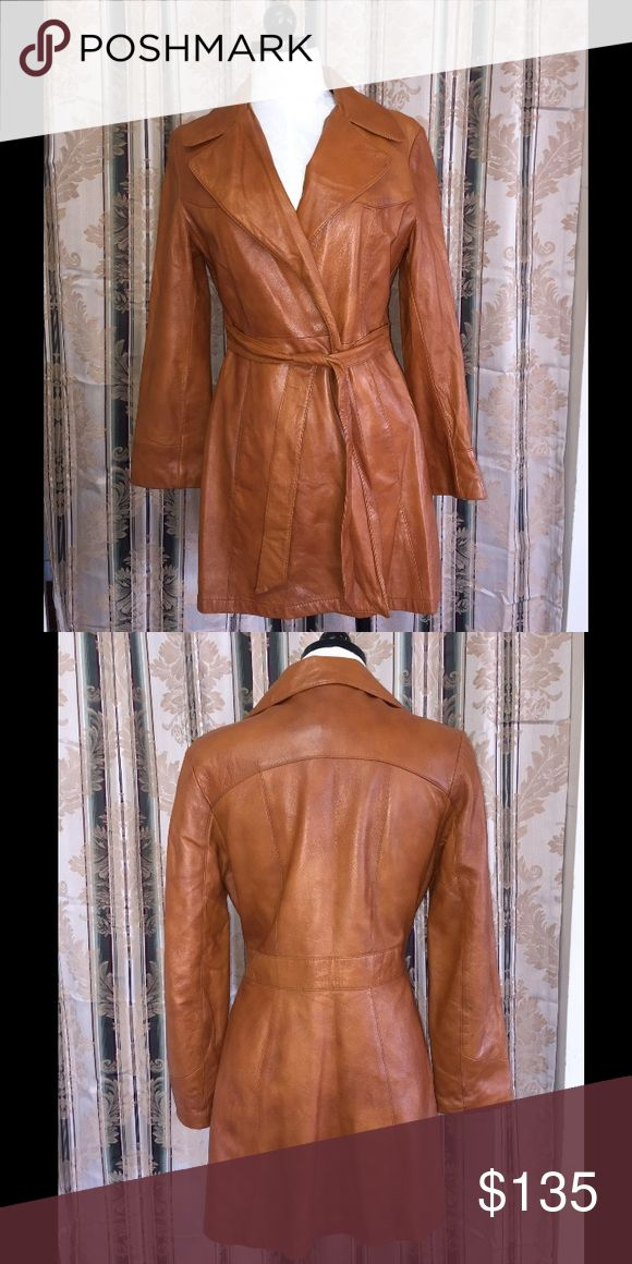 Vintage Nordstrom Brand Belted Leather Trench Super Chic Vintage Nordstrom Brand Belted Leather Trench Nordstrom Jackets & Coats Trench Coats