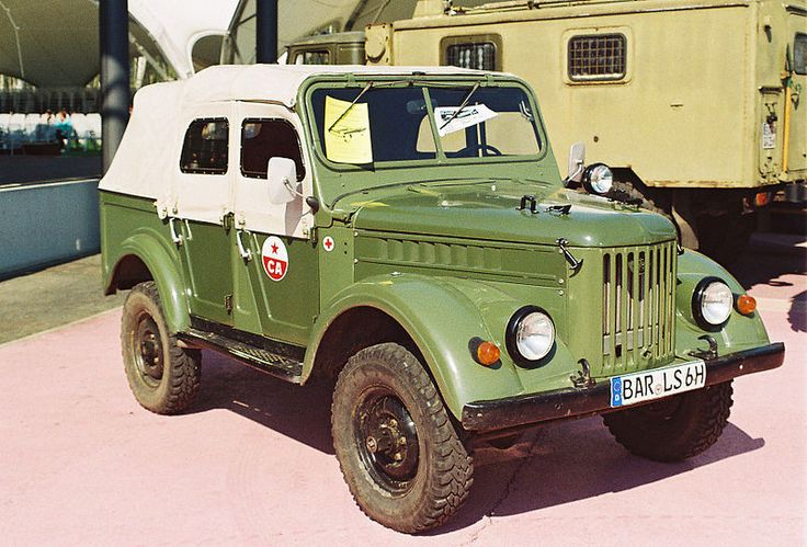 Soviet Army GAZ-69A ambulance (with canvas top cover and side windows on)
