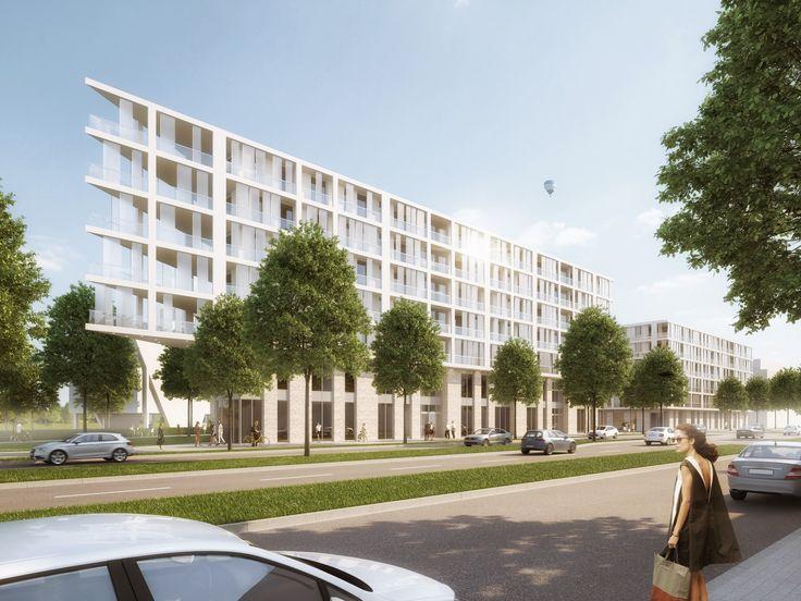 Bebauung Rheinufer Ludwigshafen   Raumlabor3 - Architekturvisualisierung aus Karlsruhe