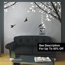 """Autocollants muraux arbre oiseau family tree nursery kids fleur wall art stickers = """"PD532"""