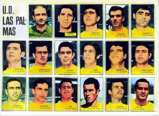 Unión Deportiva Las Palmas. Temporada 1968-69. Cromos Disgra.