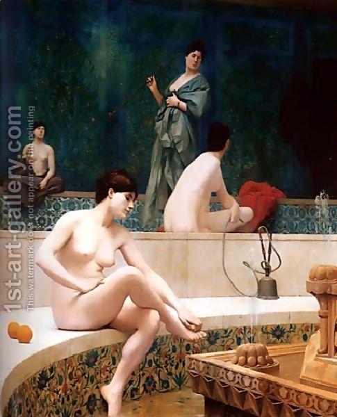 A Bath, Woman Bathing Her Feet (or Harem Pool) by Jean-Léon Gérôme