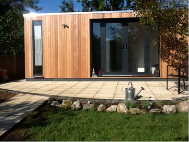 Swift Garden Rooms choose to use Western Red Cedar cladding on their buildings because of its aesthetic appeal and its long term durability.