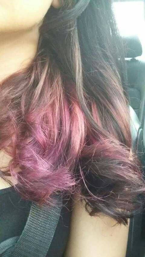Shades of pink and purple ombre by minx