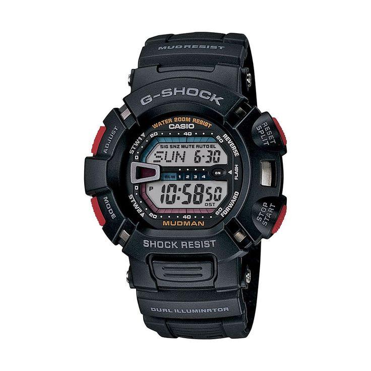 Casio Men's G-Shock Mudman Digital Chronograph Watch - G9000-1V, Black