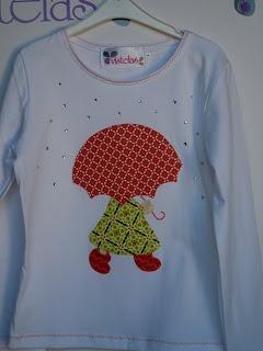 Camiseta patchwork. Sue Sunbonnet