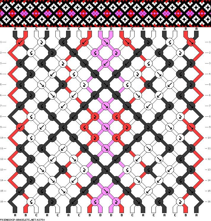 18 strings 16 rows 4 colors