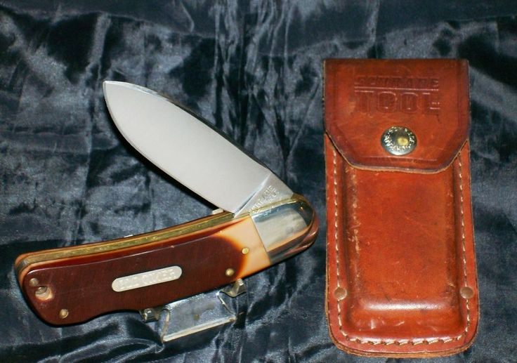 "Schrade 51OT Big Timer W/Original Sheath & Sawcut Delrin Handles 4-3/4"" @ ditwtexas.webstoreplace.com"