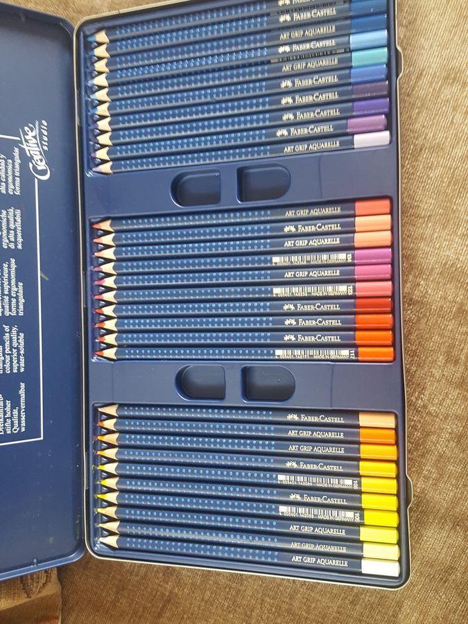 faber castell art grip aquarelle watercolour pencils  60