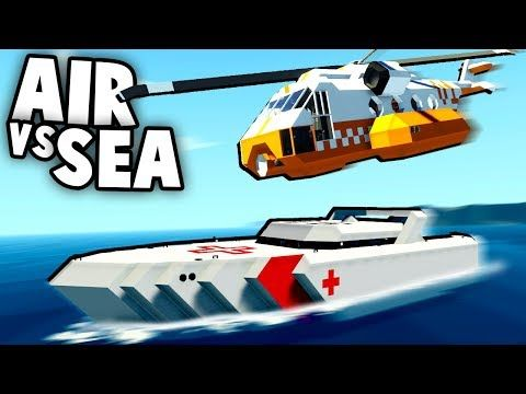 64) NEW BEST Game Ever! SEA vs AIR Vehicles! (Stormworks