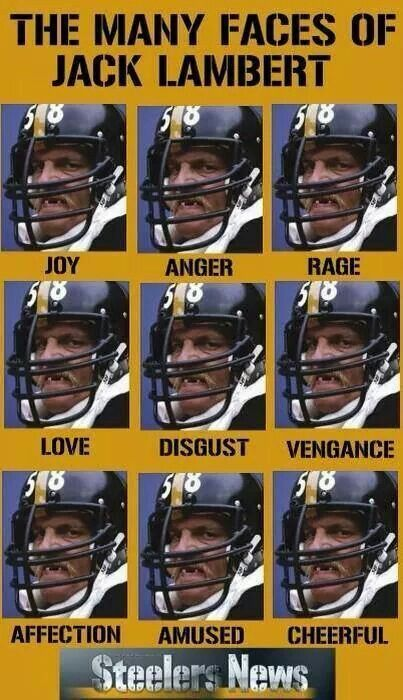 The many faces of Jack Lambert