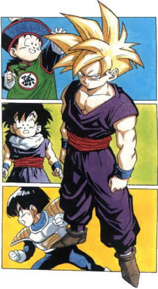 Son Gohan (Dragon Ball Z) from the ages of 4 to 9.