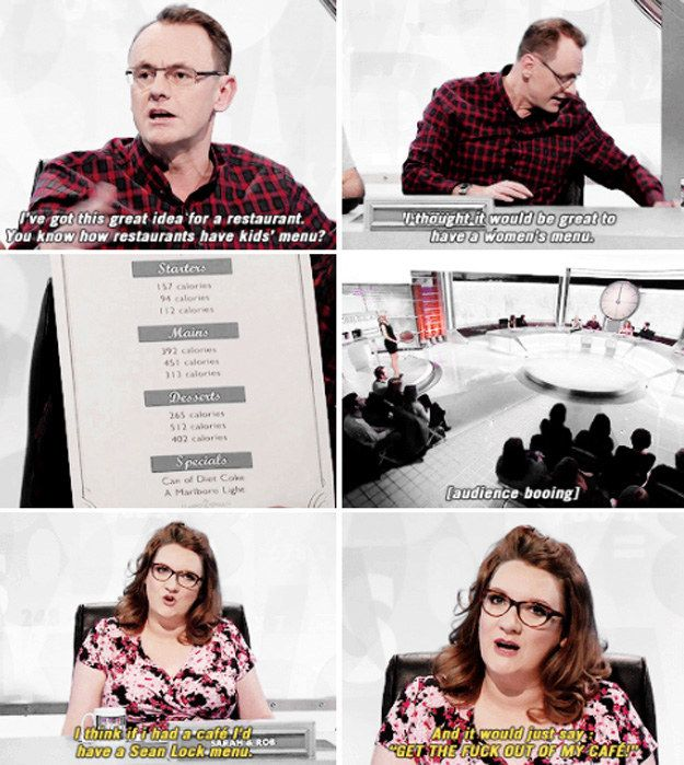When Sarah Millican said what all women (and most men) were thinking.