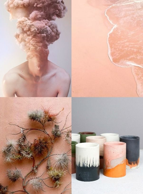 Weekend Mood board: Peachy elements - Eclectic Trends  #moodboard