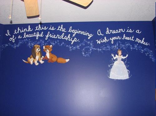 <3 Disney Mural contemporary bedroom