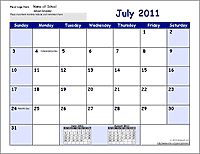 FREE School Calendar Template Collection  - Great collection, easy to use. Includes pre-made calendars and templates to change.