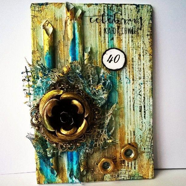 "108 Likes, 7 Comments - Ewa Jurczyk (@effata26) on Instagram: ""#handmade #scrapbooking #canvas #stamps #stencil #flowers #mixedmedia #coloring #Primamarketinginc…"""