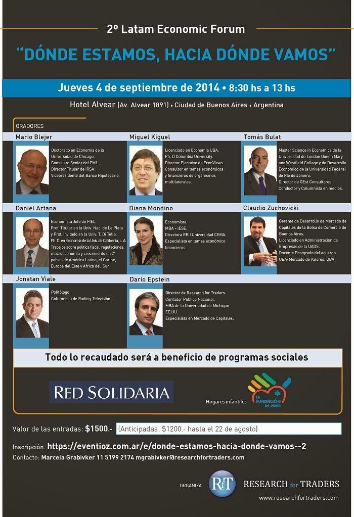 Abrimos la inscripcion para el  #2LatamEconomicForum