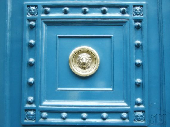 Paris print blue door Paris France wall art Paris decor parisian decor detail fine art photography 4x6 5x7 6x8 8x10 8x11 10x15