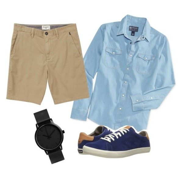 cowok 2 by sherlytha on Polyvore featuring American Rag Cie, Billabong, Cole Haan, men's fashion and menswear