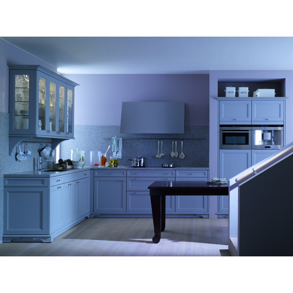 Cool and classic. Flannel gray kitchen cabinetry from SieMatic's Beaux Arts Collection.