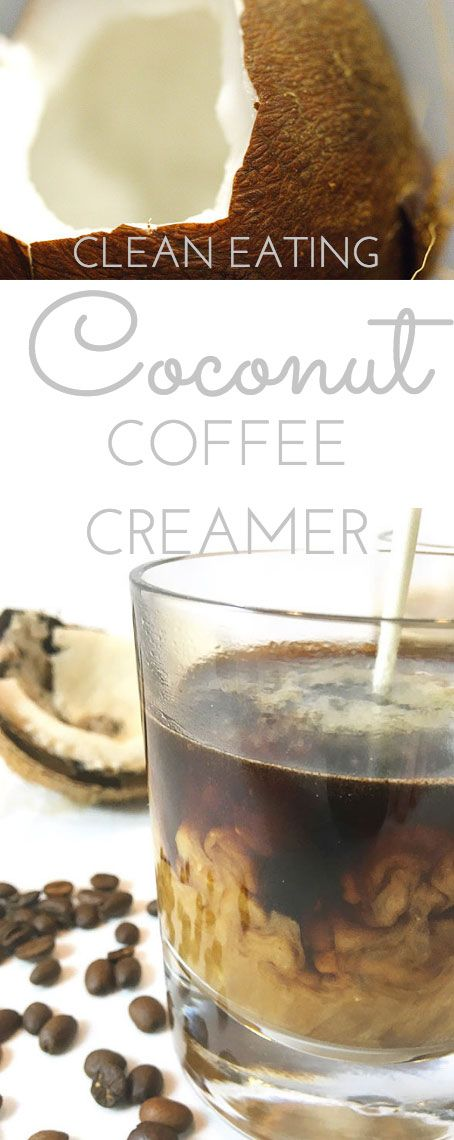 If you like flavored coffee creamer, try this Clean Eating Coconut Coffee Creamer for a little treat. It'll wake up your tastebuds and no additives or preservatives! 5 minutes, 4 ingredients.