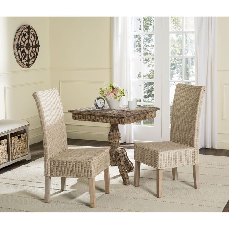 Best 25 Wicker Dining Chairs Ideas On Pinterest  Wicker Dining Enchanting Wicker Dining Room Sets Decorating Inspiration