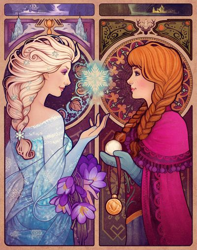 Let Me In #frozen fan art by Megan Lara. Click through to buy this art as a print, phone case, & more