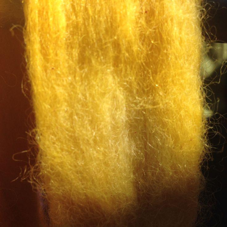 Vellón teñido Amarillo mostaza