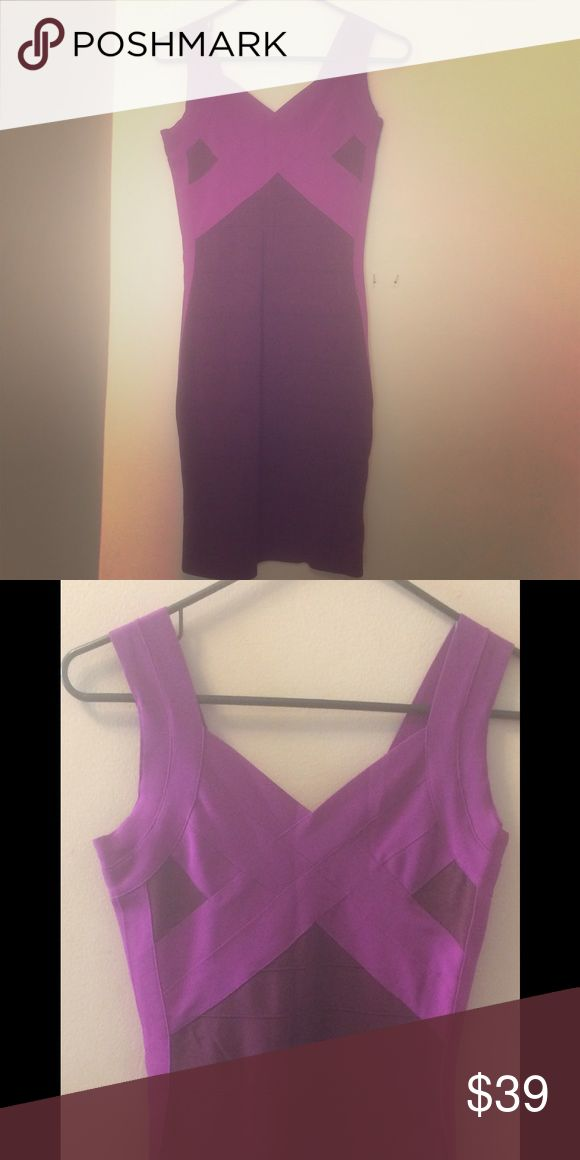 Purple Bandage Dress Beautiful bandage dress from Express. Like new condition. Worn only once! Kept in a non-smoking home. Express Dresses Midi