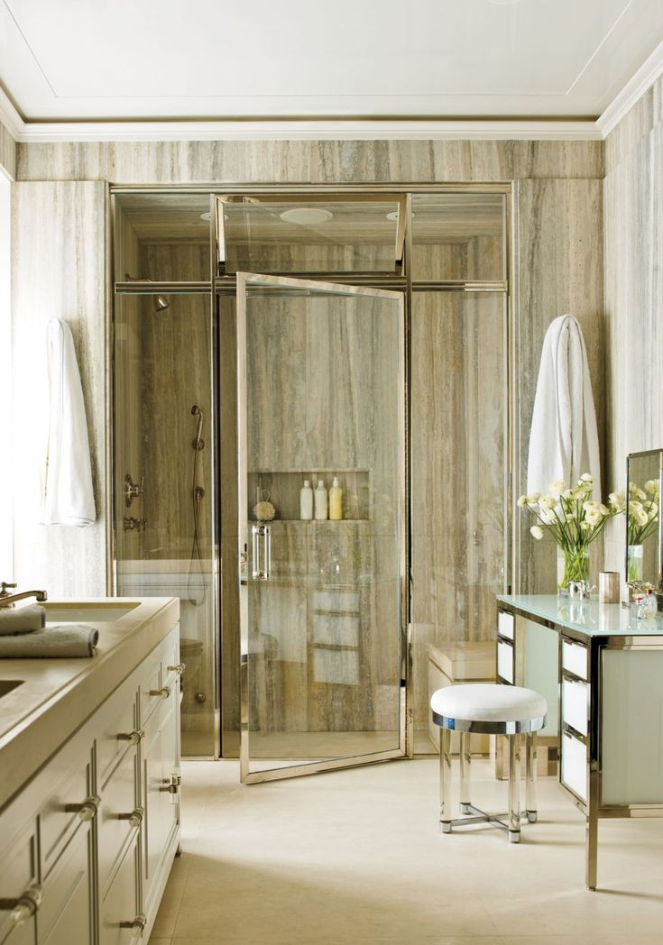 Contemporary Bathroom by Pamplemousse Design and Ferguson & Shamamian Architects in New York City