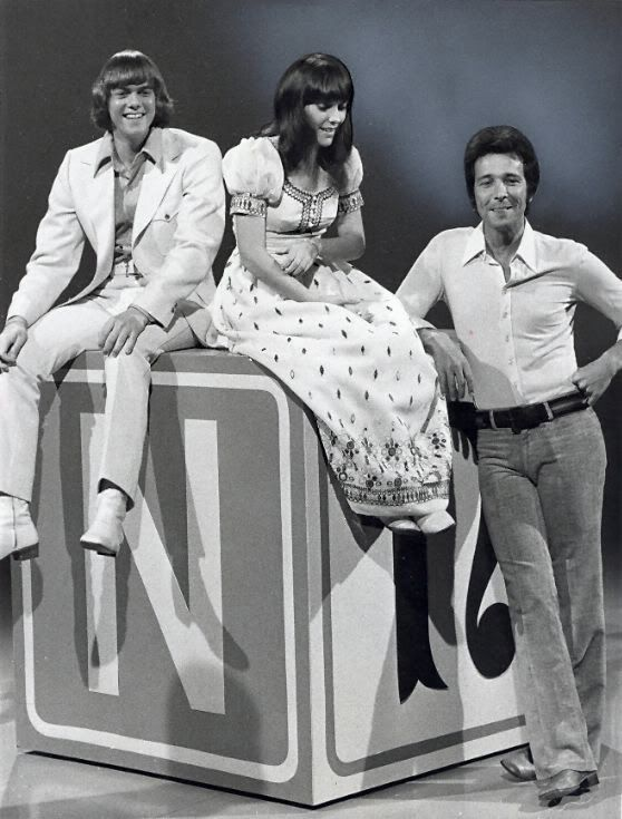 The Carpenters with Herb Alpert - publicity photo for 'This Is Your Life' -- Richard and Karen Carpenter which aired spring of 1971 -- Herb and Burt Bacharach were also on the TV special.